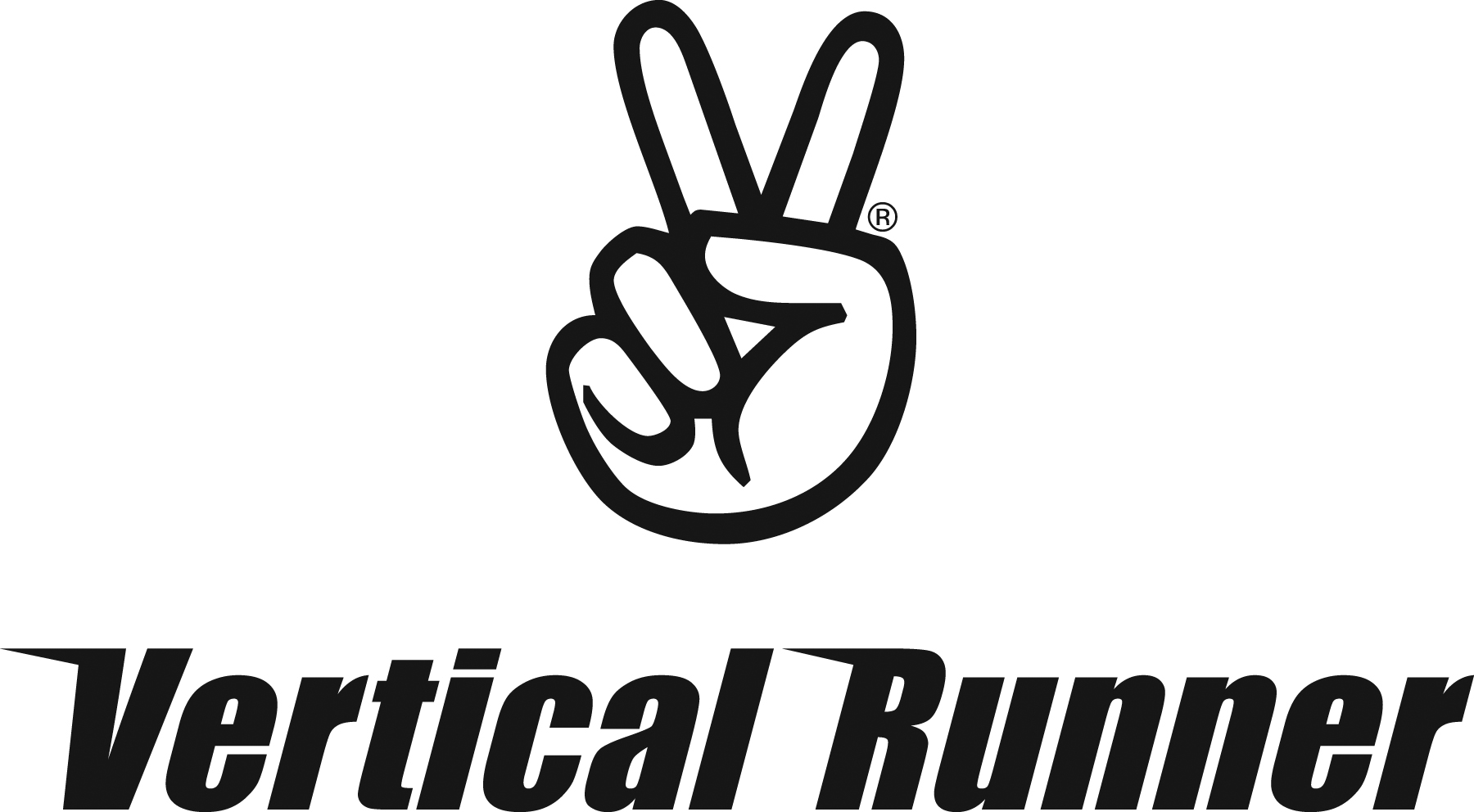 Vertical Runner Peace Sign Logo_Black